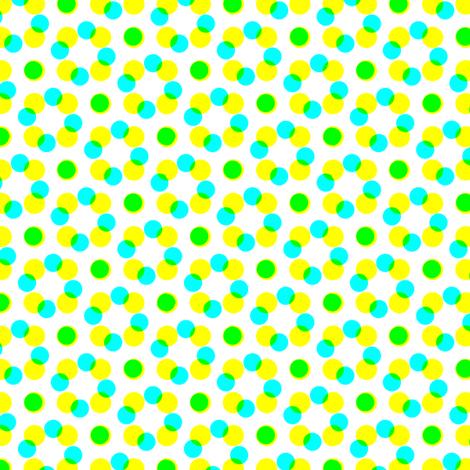 CMYK halftone dots - apple green fabric by weavingmajor on Spoonflower - custom fabric