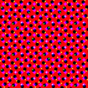 CMYK halftone dots - dark red