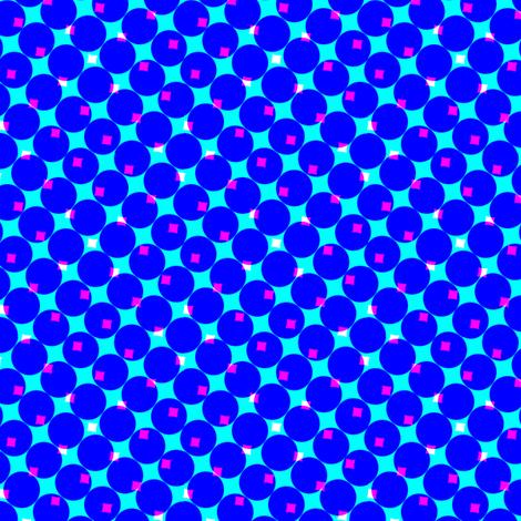CMYK halftone dots - blue fabric by weavingmajor on Spoonflower - custom fabric