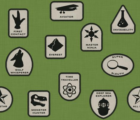 Heroic Merit Badges fabric by francine on Spoonflower - custom fabric
