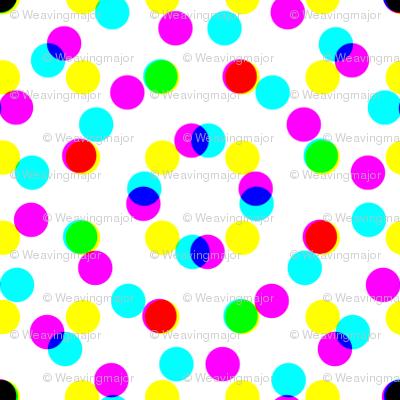 CMYK halftone dots-pale grey