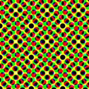 CMYK halftone dots - khaki