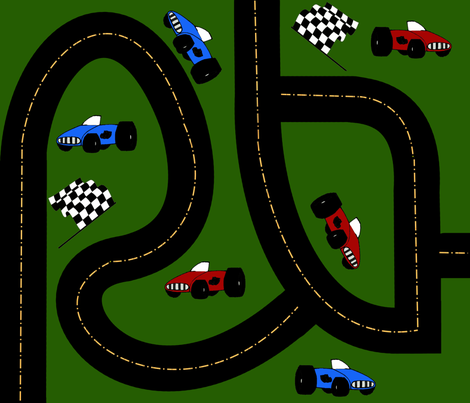Around The Race Track fabric by onestitchdesigns on Spoonflower - custom fabric