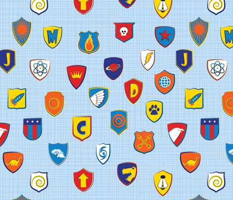 Super Shields fabric by jenimp on Spoonflower - custom fabric