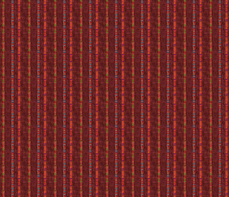 Threaded Cords - Deep Red fabric by wren_leyland on Spoonflower - custom fabric