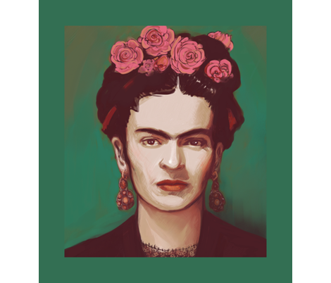 Frida - centered panel fabric by ravynka on Spoonflower - custom fabric