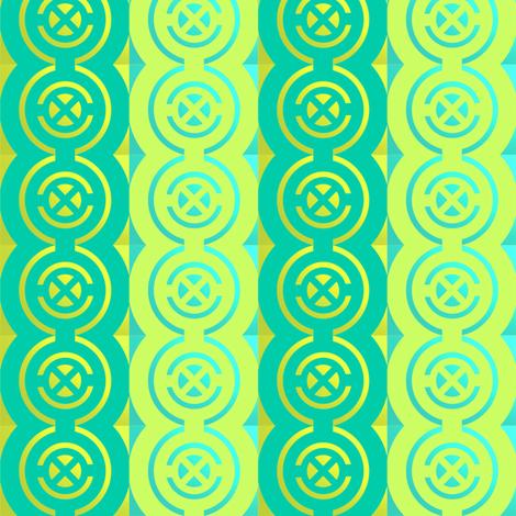 Gold quadrants on jade + acid green by Su_G  fabric by su_g on Spoonflower - custom fabric