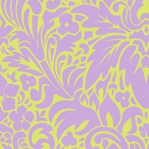 Lavender & Pear 1920's Grape Leaf Pattern