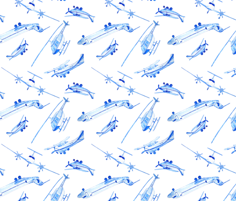 scattered planes fabric by karinka on Spoonflower - custom fabric