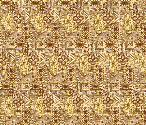 Kalakaua Ave  in Macadamia Nut fabric by sophista-tiki_by_dawn_frasier on Spoonflower - custom fabric