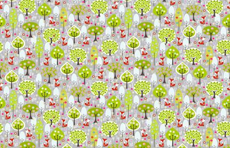 Fox Grey Small fabric by natitys on Spoonflower - custom fabric