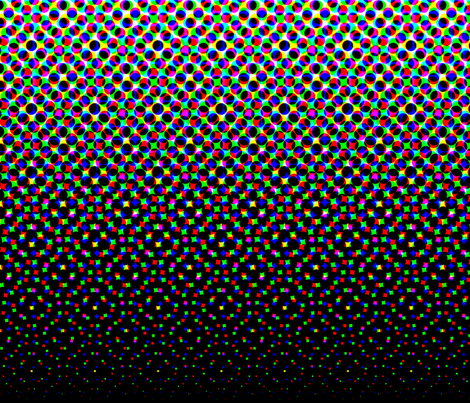 CMYK halftone gradient - black/white fabric by weavingmajor on Spoonflower - custom fabric