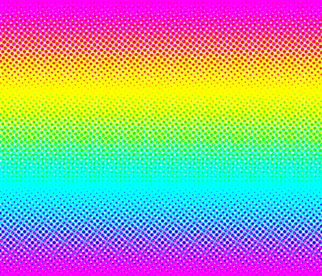 CMYK halftone gradient - rainbow fabric by weavingmajor on Spoonflower - custom fabric