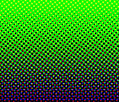 CMYK halftone gradient - purple/green/white fabric by weavingmajor on Spoonflower - custom fabric