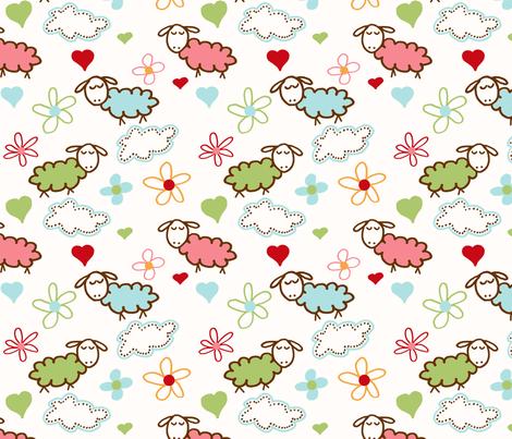 Sheep Dreams fabric by jpdesigns on Spoonflower - custom fabric