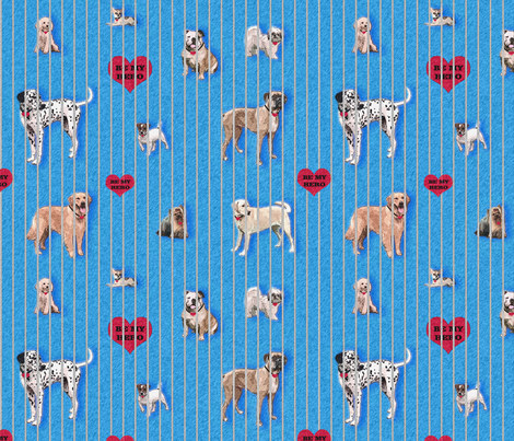 Adopt me, and be my hero fabric by lucybaribeau on Spoonflower - custom fabric