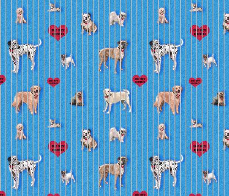 Adopt me, and be my hero fabric by lucybaribeau on Spoonflower - custom fabric