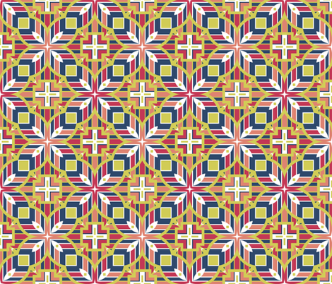 Geo for Matisse fabric by inscribed_here on Spoonflower - custom fabric