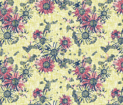 Hazy Summer Daisy fabric by inscribed_here on Spoonflower - custom fabric