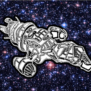 Bohemian Sky | Space Travel | Space Ship | Adult Coloring Book Pillow