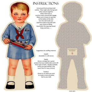 CLASSIC VINTAGE CLOTH DOLL PATTERN