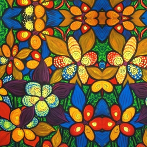 Stained Glass Floral 2