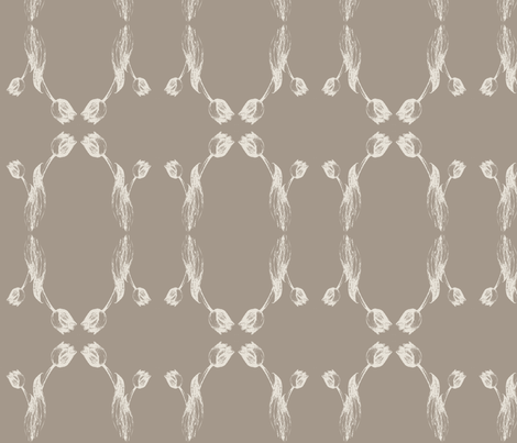 tulipsketch2_grey fabric by msnina on Spoonflower - custom fabric