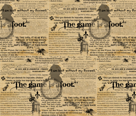 The Game is Afoot! fabric by marchhare on Spoonflower - custom fabric