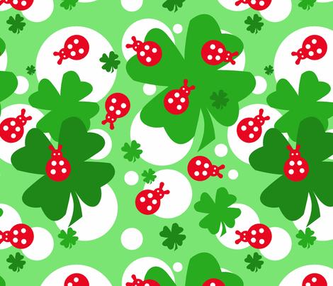 Coccinella fabric by honey_gherkin on Spoonflower - custom fabric