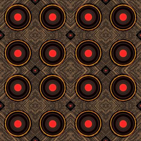 Ditto 2  - charcoal, brown, red and yellow fabric by materialsgirl on Spoonflower - custom fabric
