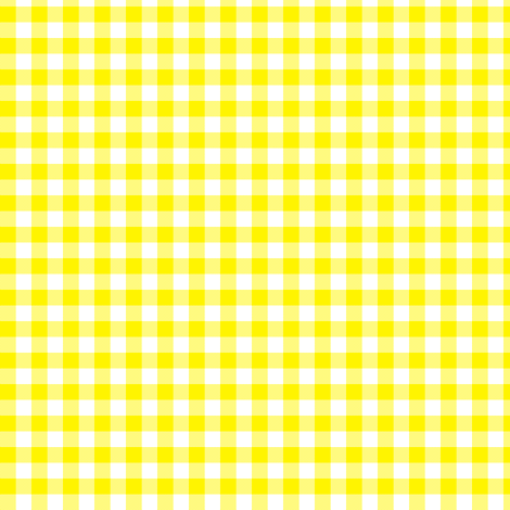 bright yellow gingham fabric by weavingmajor on Spoonflower - custom fabric