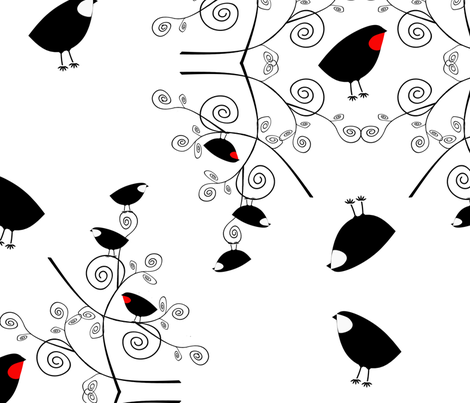 Birdicues fabric by the_naturalists_daughter on Spoonflower - custom fabric