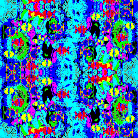 blue sea  fabric by dk_designs on Spoonflower - custom fabric