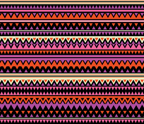 Chevron Warm fabric by mandakay on Spoonflower - custom fabric