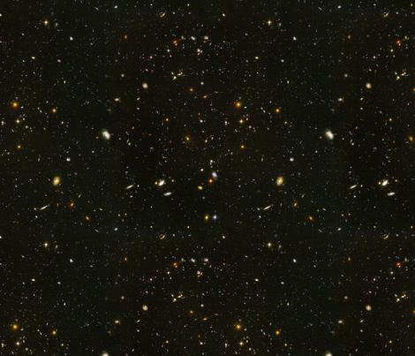 Stars // Rainbow Star Field Dark Galaxy fabric by stars_and_stones on Spoonflower - custom fabric