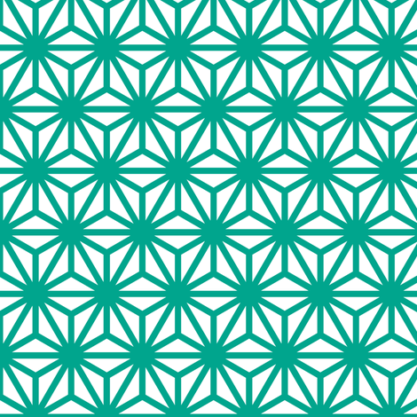 asanoha in emerald fabric by chantae on Spoonflower - custom fabric