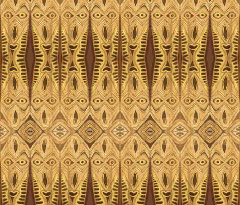 Tiki Light Fringe fabric by susaninparis on Spoonflower - custom fabric