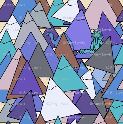 pyramid in blues