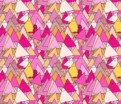 pyramids in pink fabric by cairocraft on Spoonflower - custom fabric