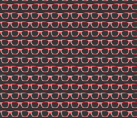 retro glasses fabric by katarina on Spoonflower - custom fabric