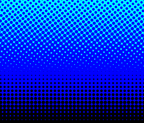 CMYK halftone gradient - black/blue/cyan/white fabric by weavingmajor on Spoonflower - custom fabric