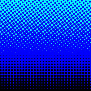 CMYK halftone gradient - black/blue/cyan/white