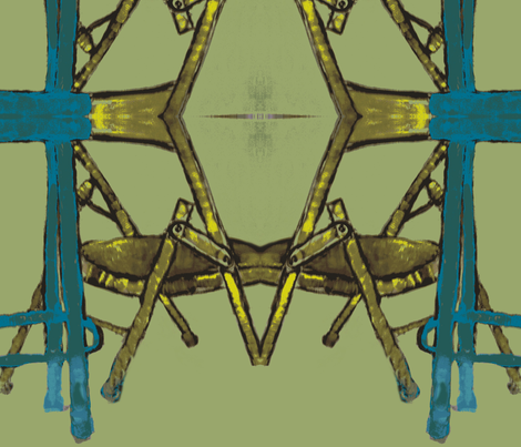 Folding Chair and Bar Stool fabric by susaninparis on Spoonflower - custom fabric