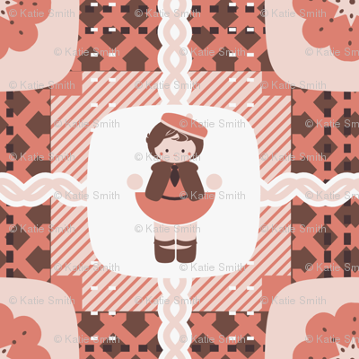 Little Pink Plaid Girl