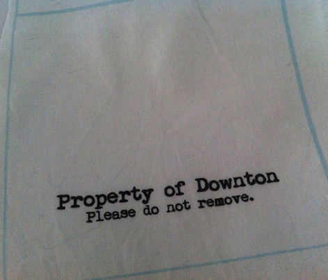 Property of Downton, Please do not remove | Cocktail Napkin DIY