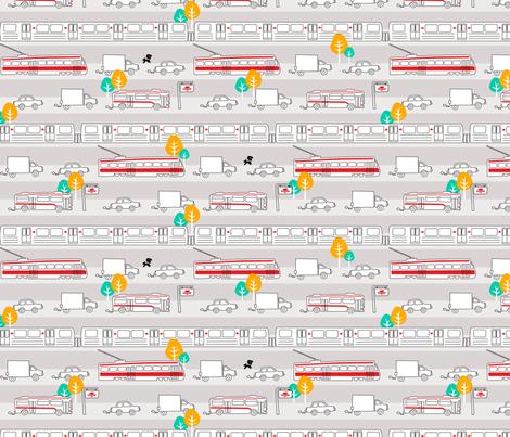 Toronto Traffic fabric by elainethebrain on Spoonflower - custom fabric