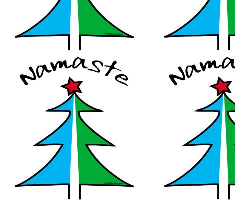 Namaste Christmas Tree fabric by lesrubadesigns on Spoonflower - custom fabric