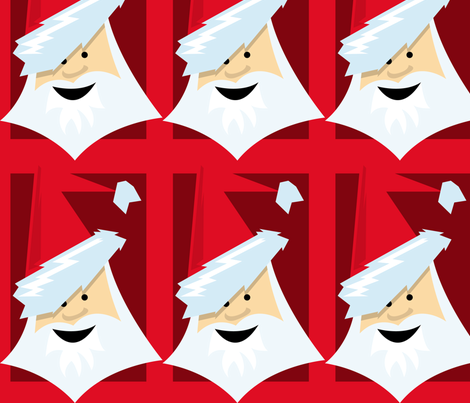 Santa Claus fabric by lesrubadesigns on Spoonflower - custom fabric