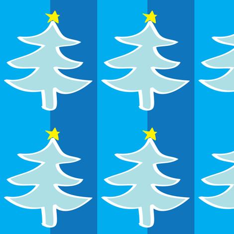 Blue Christmas Tree fabric by lesrubadesigns on Spoonflower - custom fabric