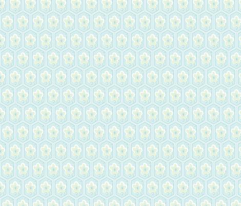 honeycomb cherry - palest blue fabric by fox&lark on Spoonflower - custom fabric